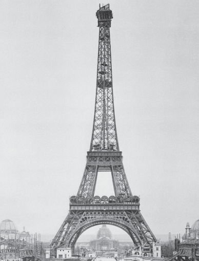 Final picture after the construction of Eiffel tower