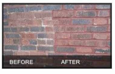 A Masonry Wall Before and After Tuckpointing
