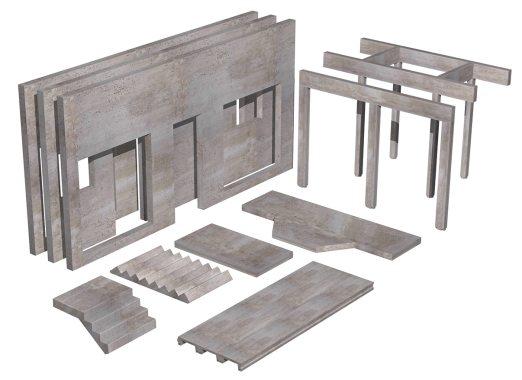 Precast components