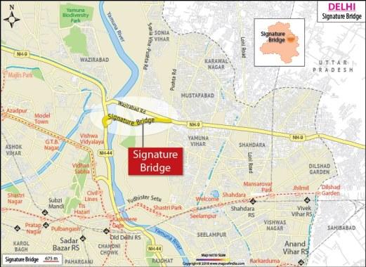 Map of signature bridge.
