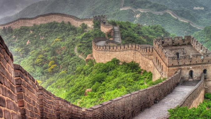 Location of great wall of China