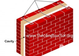 What are the various causes of providing a cavity wall?