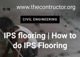 Explain the construction of IPS flooring?
