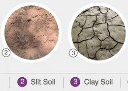 How can we differentiate clay and silt apart from its sizes?