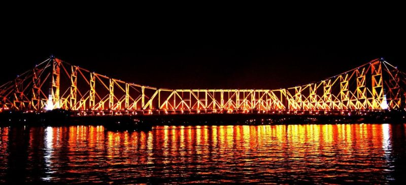 Howrah Bridge during night