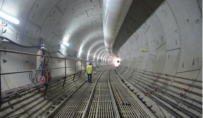 Delhi Metro underground tunnels