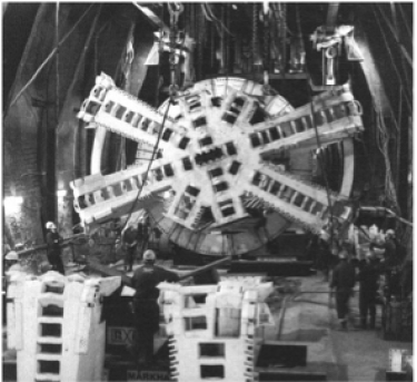 Cutting head used in The channel tunnel construction