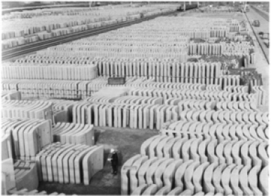 Concrete tunnel lining segments for channel tunnel