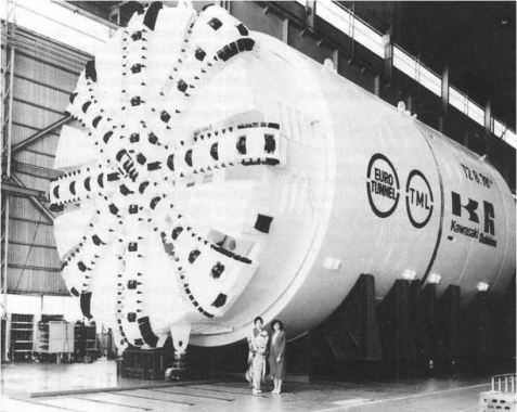 TBM used in the construction of the Channel Tunnel