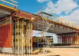 Why is propping required for long structures once the formwork is removed?