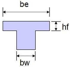 Isolated T-beam Geometry