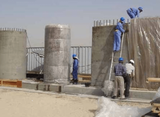 Tests on concrete for Burj Khalifa tower