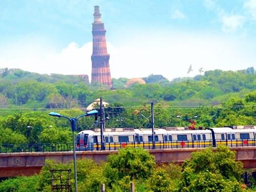 View of the Delhi metro