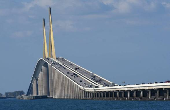 The Sunshine Skyway Bridge is one of the longest bridge in USA