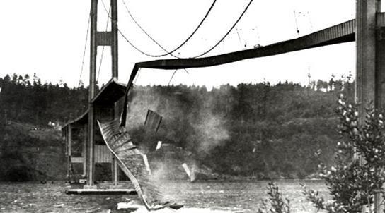 Zipper-type collapse of Tacoma Narrows Bridge
