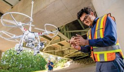 A New Drone-based System to Assess Aging Infrastructure Projects