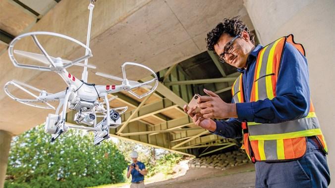 Niricson founder Harsh Rathod with a drone