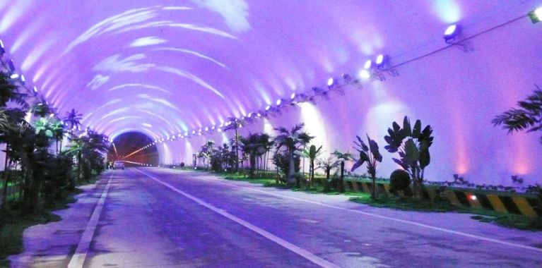 Qinling-Mountain Zhongnan tunnel with a length of 18.02 km is the longest tunnel in Asia