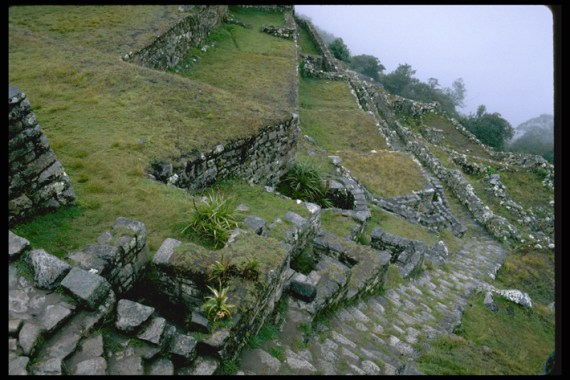Construction layout of the fountains of the Machu Picchu