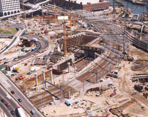 Construction of the Big Dig tunnel
