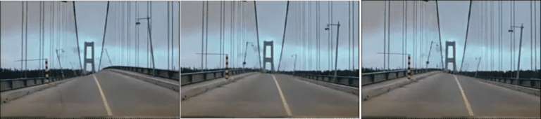 Movement of the roadway of the Tacoma Narrows bridge due to wind loads