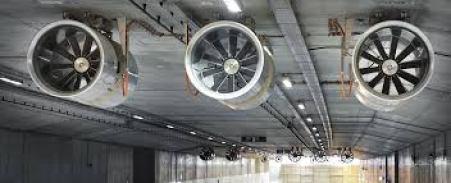 Longitudinal ventilation: Fans