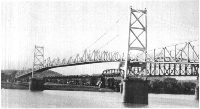 Point Pleasant Bridge before the collapse