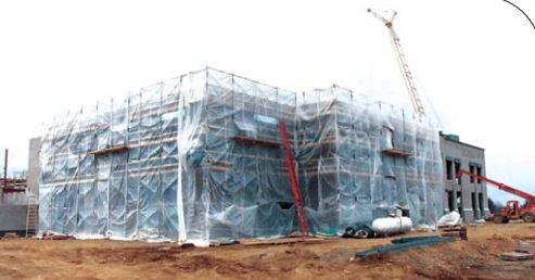 A protected cold masonry construction