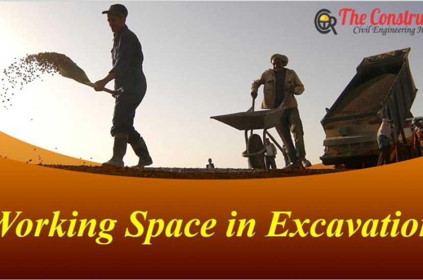 How to Calculate Working Space for Excavation?