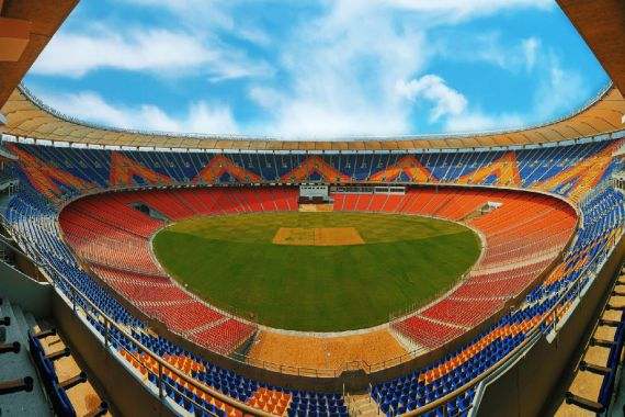 Motera Stadium provides 360-degree view of the cricket field from the seating level