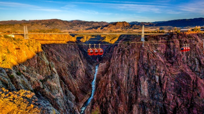 The total height of the Royal Gorge Bridge from the deck to the river surface is 321 m.