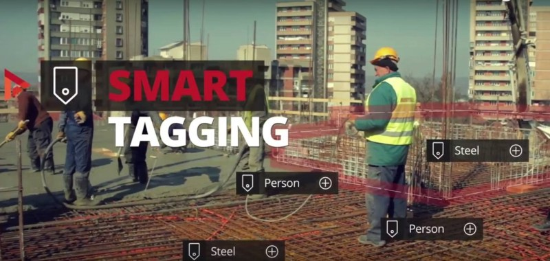 Smart tagging is used to quantify the current resources available at the site to continuously monitor the progress and safety of workers