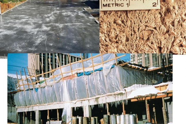 What to do if Freshly Placed Concrete Freezes in Cold Weather?