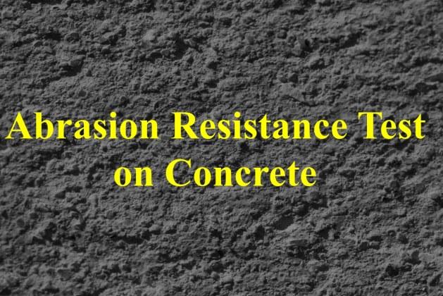Abrasion Resistance Test on Concrete