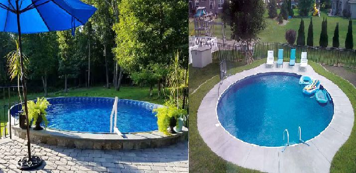 Difference between onground and inground pools