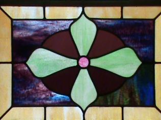 Stained Glass Detail 1, FUMC, Point Richmond, CA (copyright Laurie Snyder: 2011)