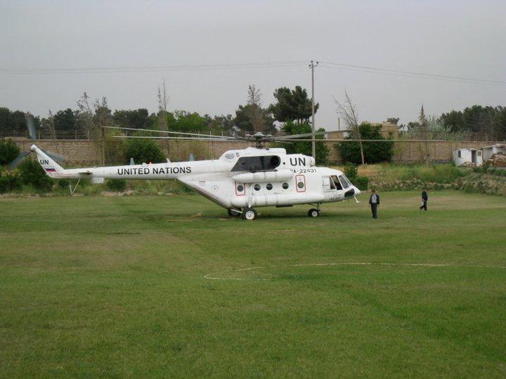 Landing in Herat, Afghanistan