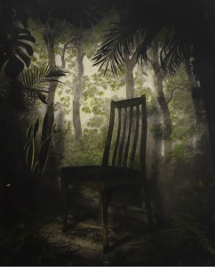 Overgrown Room with Chair by Suzanne Moxhay The Contemporary London Hand coloured