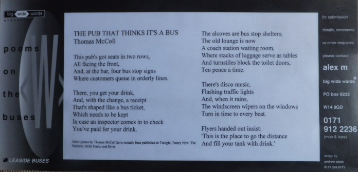 Bus poster Nov 1995