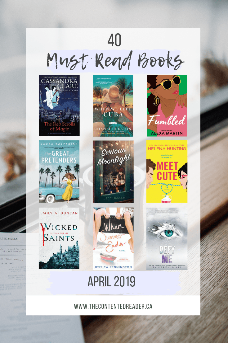 40 Must Read Books in April 2019 - The Contented Reader