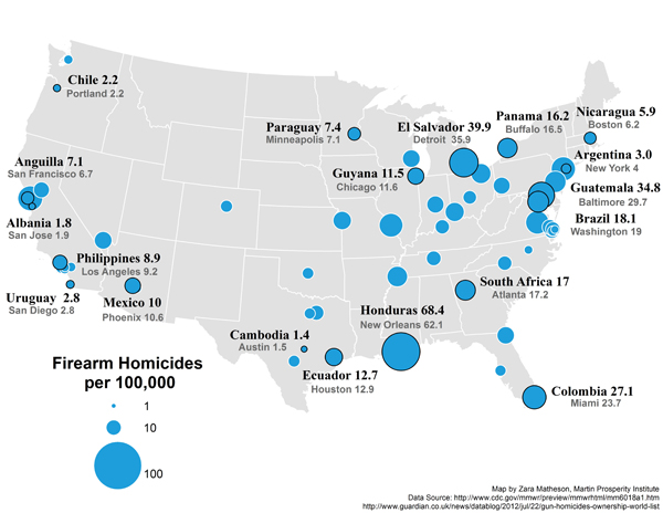 If New Orleans Were A Country It Would Be Secondworst For Gun - New orleans in us map