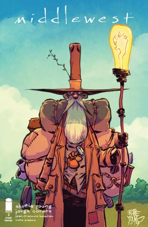 Cover of Image Comics MIDDLEWEST #2 2nd print with art by Skottie Young