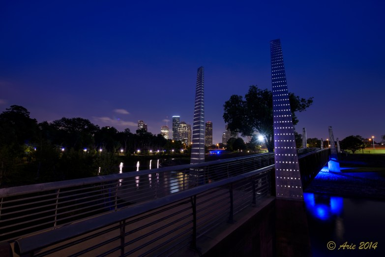 Pedestrian Bridge on Buffalo Bayou Park Hike and Bike Trail