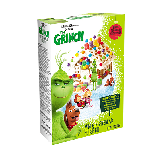 Grinch Mini Gingerbread House Kit Packed 12 Per Case