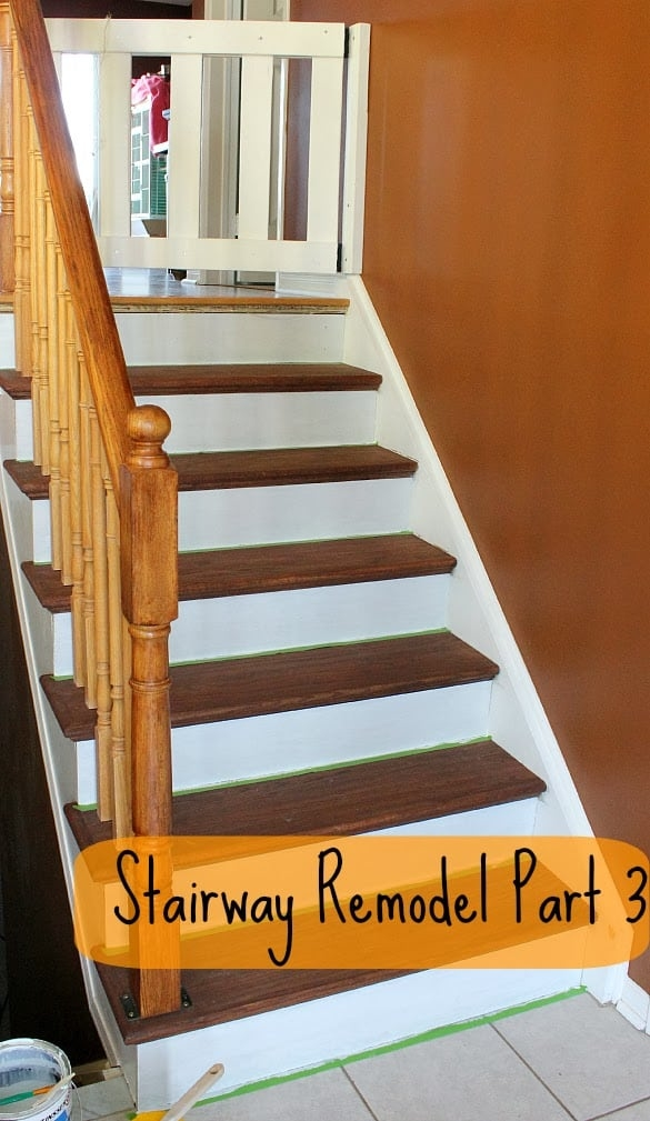 Stairway Remodel Part 3 Installing New Stair Treads And Risers | Installing Oak Stair Treads | Carpet | Anti Slip Stair | Wood Flooring | Laminate Flooring | Risers