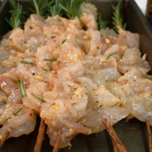 Shrimps on Rosemary Skewers_prep