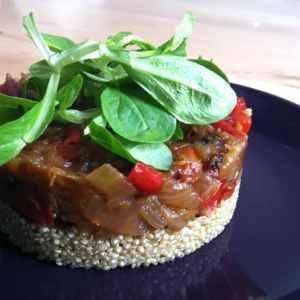 Timbal de quinoa y verduras