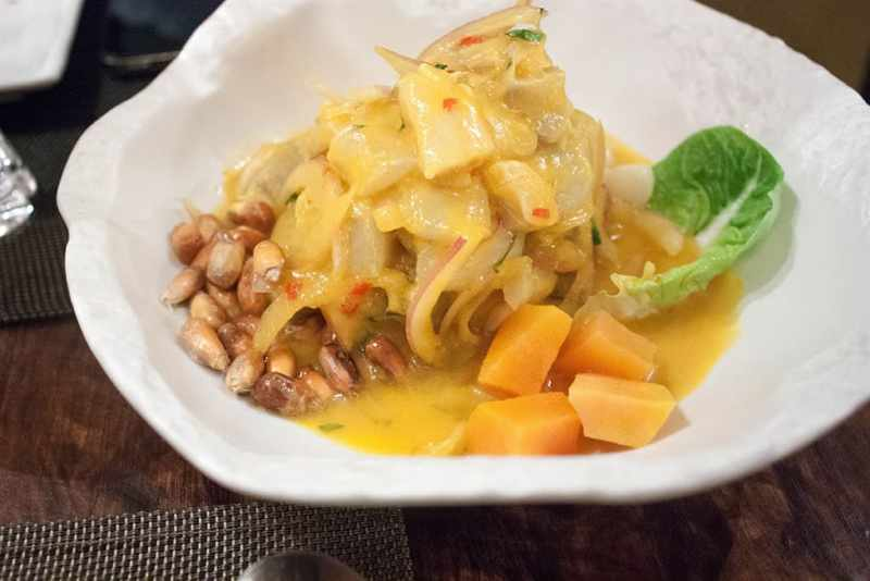 Ceviche de aji amarillo Peru Market