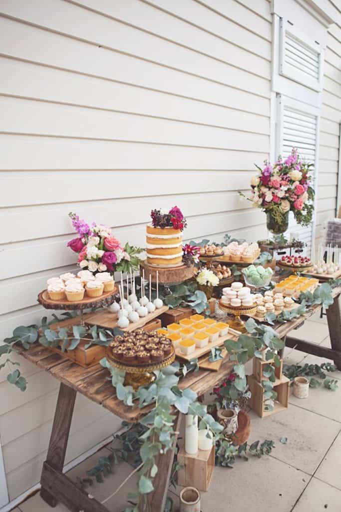 como organizar una mesa dulce