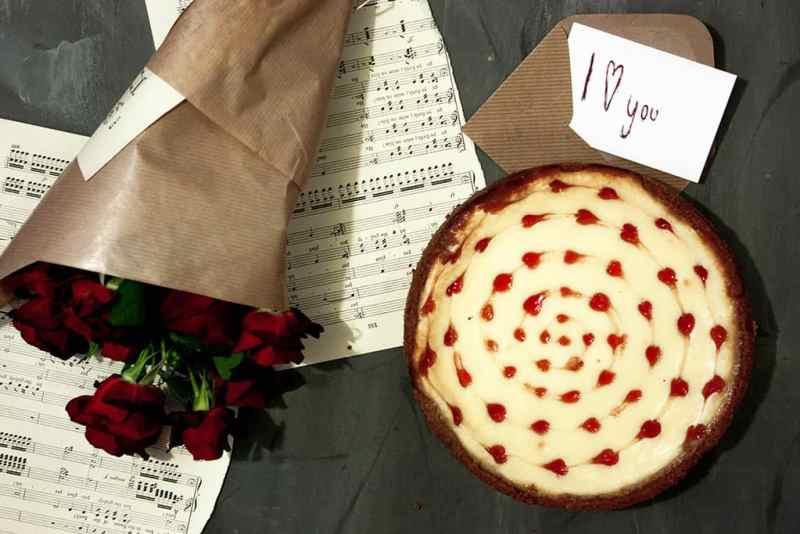 Cheesecake con corazones
